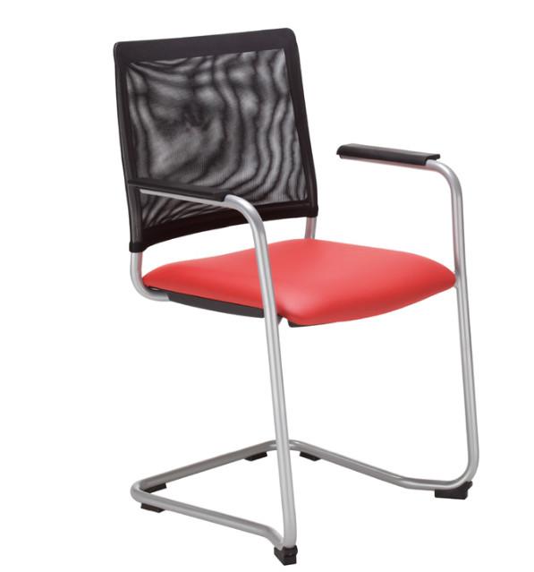 Посетителски стол INTRATA -V-32-CF-CR-ARM